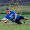 Winnacunnet Boys and Girls scrimmage at the WHS Summer Soccer Clinic and workout on Tuesday 8-8-2017 @ WHS.  Matt Parker Photos