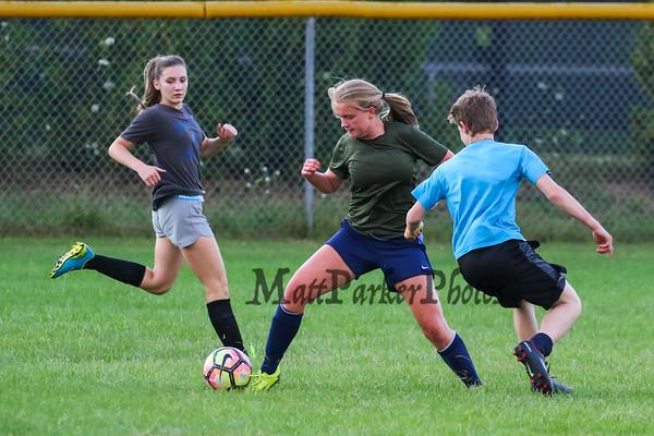 2017-8-8 WHS Girls Summer Soccer Workout and Boys vs Girls