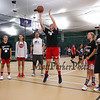 Sophmore Sydney Coomes of Newmarket takes a foul shot at the Sports Barn Basketball and Tennis demonstrations and Grand Opening on Saturday 9-16-2017, Drakeside Road, Hampton, NH.  Matt Parker Photos