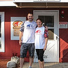 Chris and Jessa Coates owners of the Sports Barn and the NH Spartans pose for a photo at their Grand Opening on Saturday 9-16-2017, Drakeside Road, Hampton, NH.  Matt Parker Photos
