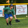 Exeter Baseball All-Star U12 70' player Michael Scaccia moves to the ball during Monday's fielding practice at Currier Field on 6-12-2017, Exeter, NH.  Matt Parker Photos