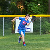 Exeter Baseball All-Star U12 70' player Kaden Brackett keeps his eyes on a fly ball at Monday's practice at Currier Field on 6-12-2017, Exeter, NH.  Matt Parker Photos