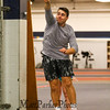 Winnacunnet sophmore Jack Wilber releases the shot put at Monday's Winter Indoor Track practice on 12-10-2018 at UNH.  Matt Parker Photos