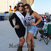 Miss Hampton Beach Emily Durant poses for a photo with her friend Jenna Doucette as Country Music singer Ayla Brown performs with her band during Country Music Week 2018 at the Hampton Beach Seashell Stage on Wednesday 7-11-2018.  Hampton Beach, NH.  Matt Parker Photos