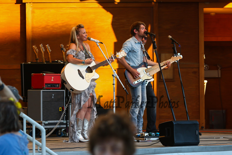Country Music singers Jilly Martin and Ryan Brooks Kelly perform with their band at the Hampton Beach Seashell Stage on Thursday 7-19-2018.  Hampton Beach, NH.  Matt Parker Photos