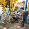 """Rebuilding of the """"Kids Kingdom"""" playground at Tuck Field with members of the Hampton Recreation Department and volunteers on Friday and Saturday 10-25/26-2019, Hampton NH.  Matt Parker Photos"""