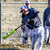 Winnacunnet Sophmore Landon Harris connects with the ball in the batting cage at Monday's  Baseball preseason workout/practice on 3-25-2019 @ WHS.  [Matt Parker/Seacoastonline]