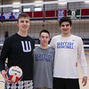Winnacunnet boys volleyball captains (L to R) Seniors Jack Schaake, Brendon Anderson and Ben Allen pose for a photo prior to the start of Monday's Boys Volleyball preseason practice on 4-8-2019 @ WHS.  [Matt Parker/Seacoastonline]