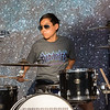 """Nick Yee playing the drums, """"All You Got Tour"""" a artistic group of 22 year olds and younger singers and musicians performing on the Hampton Beach Seashell Stage on Tuesday 7-16-2019.  Matt Parker Photos"""
