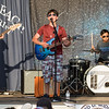 """Caleb Cascio playing the guitar and signing, """"All You Got Tour"""" a artistic group of 22 year olds and younger singers and musicians performing on the Hampton Beach Seashell Stage on Tuesday 7-16-2019.  Matt Parker Photos"""