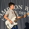 """Matthew Hebert on the bass guitar, """"All You Got Tour"""" a artistic group of 22 year olds and younger singers and musicians performing on the Hampton Beach Seashell Stage on Tuesday 7-16-2019.  Matt Parker Photos"""