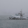 Boat at mooring Blackwater River Seabrook harbor on a cold-foggy winter day in January, Seabrook Hampton Estuary photos on Sunday 1-20-2019, Seabrook NH.  2019 SHEA Photo Contest Winner, Weather.  Matt Parker Photos