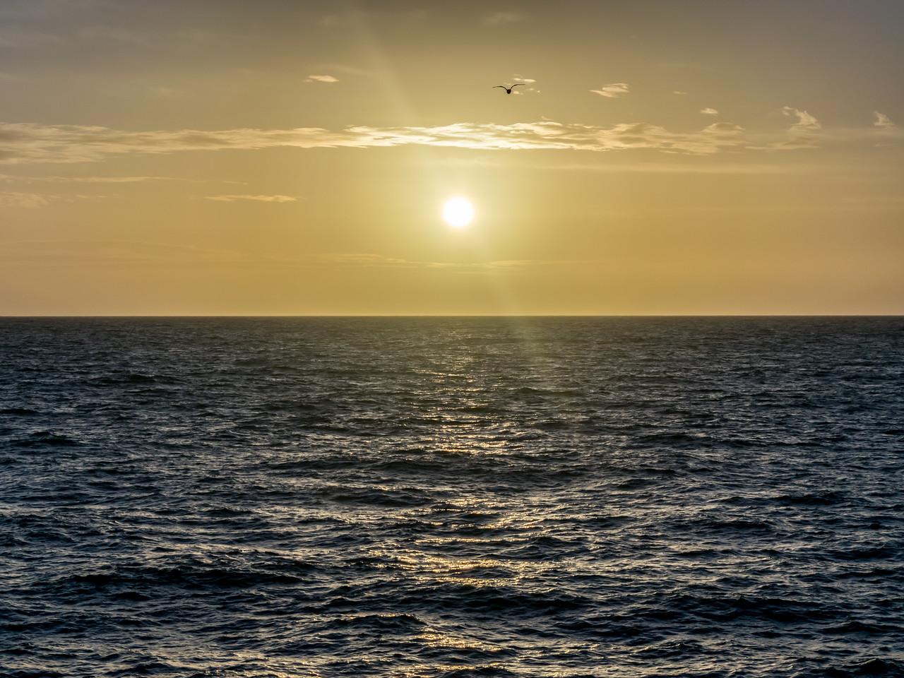 Pacific Ocean Setting Sun