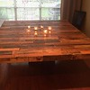 Harvest table from recalimed pallet wood