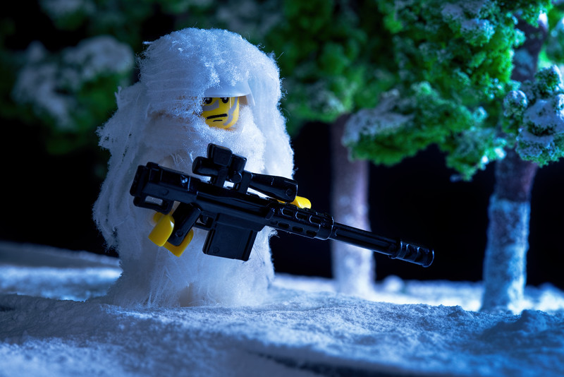 Arctic Sniper in Frozen Forest