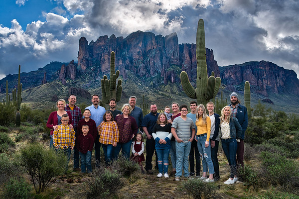 Family shot in The Superstitions