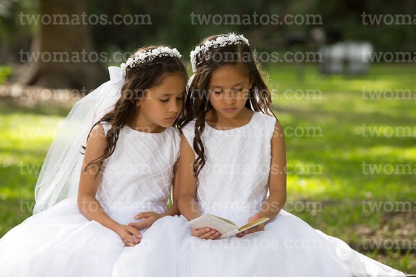 Cat's and Alexa's First Communion