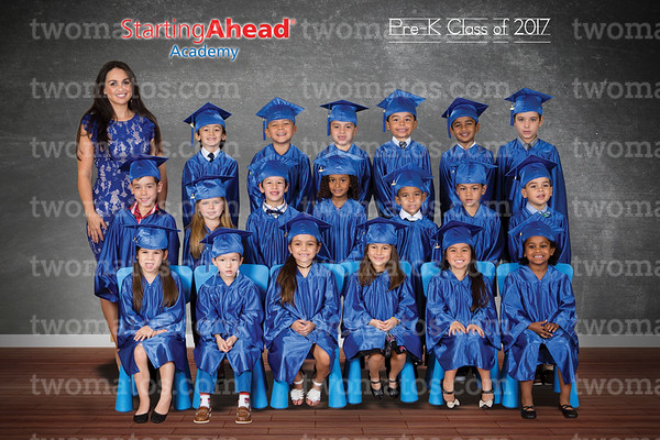 2017 Pre K Cap and Gown