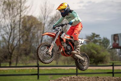 Motocross riders practice their skills