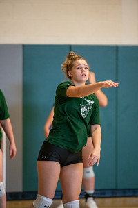 Castleton University 2021 Homecoming Volleyball Team Warmup Before Their Game  vs. Southern Maine Huskies