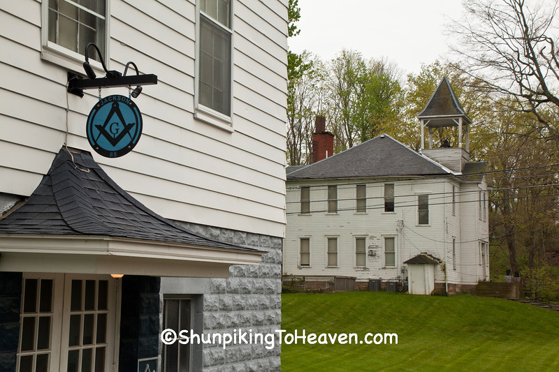 "April - ""Masonic Lodge & Old School, Licking Co., Ohio"""