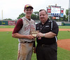 Hartselle's Brett Blackwood is the game's MVP in the 5A AHSAA state championship finale won by Hartselle 3-2 over Spanish Fort at Riverwalk Stadium in Montgomery, Ala., May 18, 2013.  By David Bundy