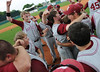 Hartselle players celebrate their win in the 5A AHSAA state championship finale won by Hartselle 3-2 over Spanish Fort at Riverwalk Stadium in Montgomery, Ala., May 18, 2013.  By David Bundy