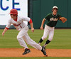 Hewitt-Trussville's Keegan Morrow takes off for third in the 6A AHSAA state championship finale won by Pelham 1-0 over Hewitt-Trussville at Riverwalk Stadium in Montgomery, Ala., May 18, 2013.  By David Bundy