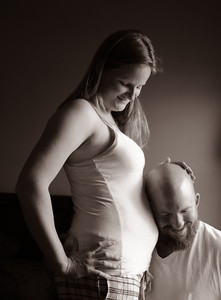 Amanda and Beau Moore at home during pregnancy in Montgomery, Ala., Dec. 9, 2012. By David Bundy