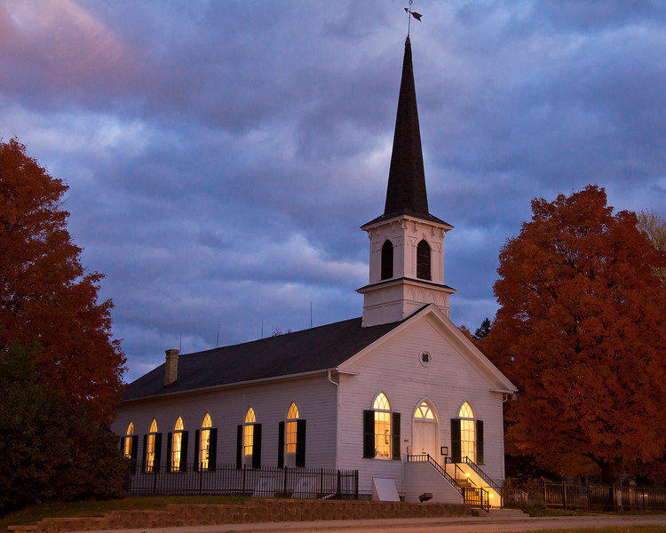 """34 - First Lutheran Church, """"Lit from Within"""", Middleton, Wisconsin"""