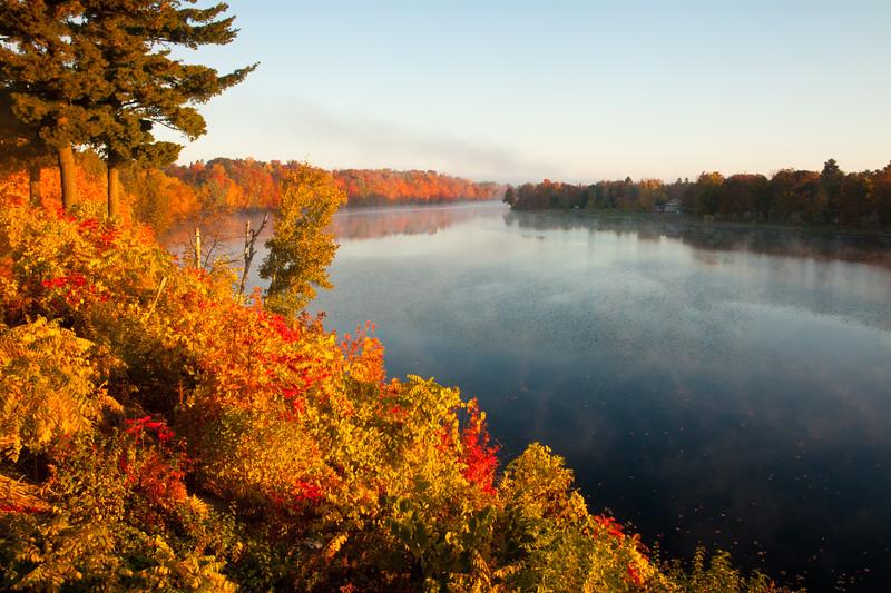 Sunrise on the Flambeau River, Rusk County, Wisconsin