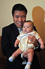Harry Kim, Conner, Beth-100 days celebration, Jan. 24, 2012. (By David Bundy)