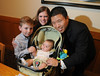 Harry Kim, Conner, Beth-100 days celebration, Jan. 24, 2012. (By David Bundy)