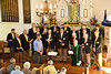 Rev. Ken Michaelis Giving Closing Prayers at Annual Service