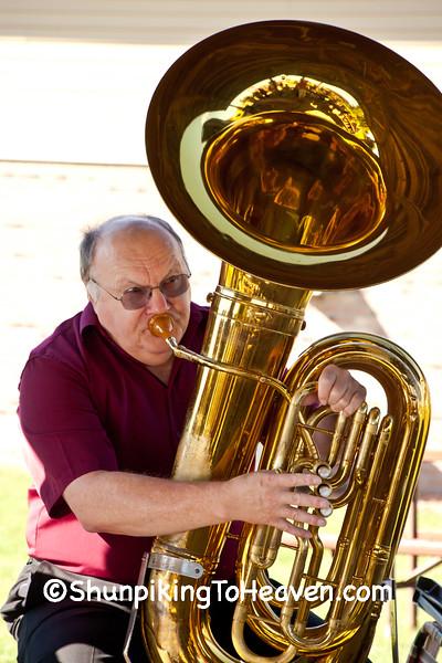Tuba Player, Buttons and Banjo Polka Band