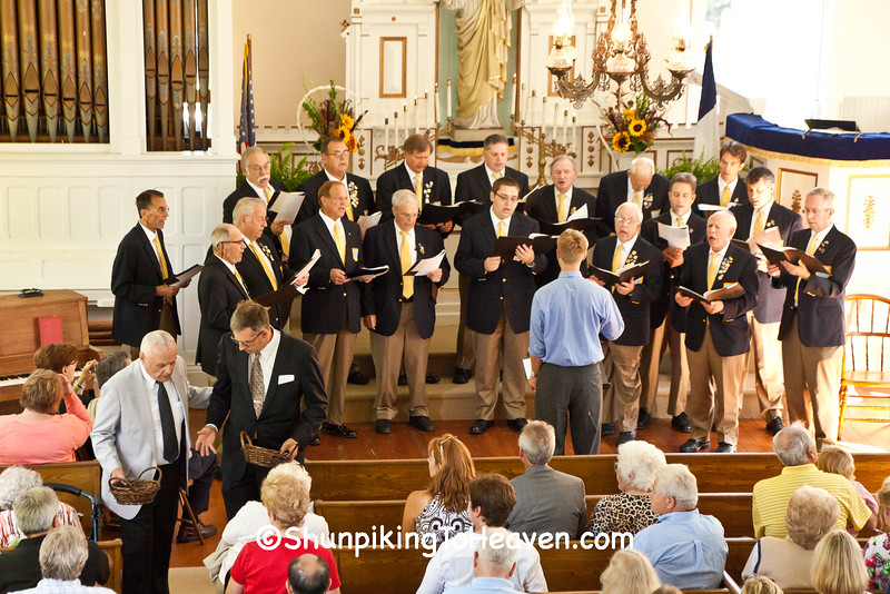 Madison Maennerchor Singing During Offering at Annual Service