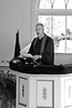 Rev. Ken Michaelis Giving His Sermon from the Pulpit