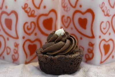 Brownie Cupcake With Hearts