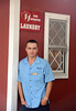 Cristian Porubin of Moldova is a housekeeper at the Avista Hotel and Resort in Myrtle Beach, SC. J1 program international students-July, 2013. By David Bundy