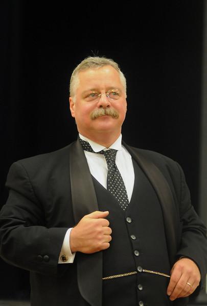 Joe Wiegand portrays Teddy Roosevelt in Montgomery, Ala., Nov. 28, 2012. By David Bundy
