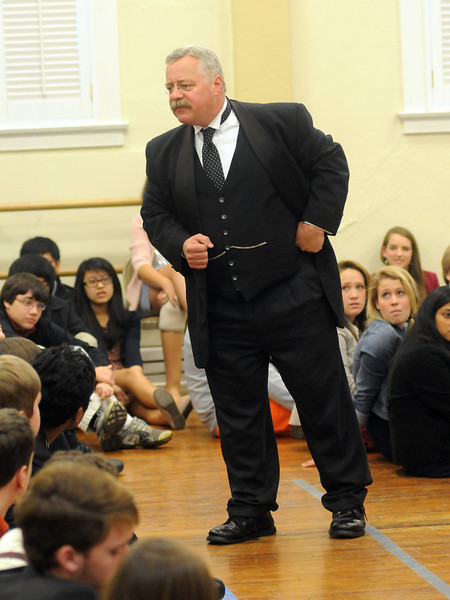 Joe Wiegand portrays Teddy Roosevelt in Montgomery, Ala., Nov. 28, 2012. By David Bundy