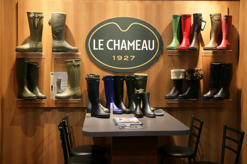 World-class boots by Le Chameau at the Lipsey's Pavilion<br /> <br /> Image by Martin McKenzie ~ All Rights Reserved