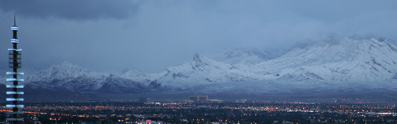 An evening view of the mountains, as seen from the balcony of my hotel room while staying in Las Vegas.<br /> <br /> Image by Martin McKenzie ~ All Rights Reserved