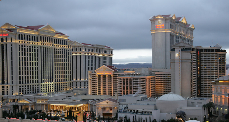 An evening view of Caesars Palace Hotel & Casino in Las Vegas.<br /> <br /> Image by Martin McKenzie ~ All Rights Reserved
