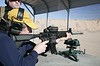 Martin McKenzie firing the latest offerings from Heckler & Koch<br /> <br /> Images by Martin McKenzie, all rights reserved
