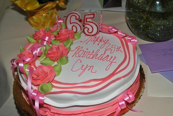 Cyn's 65th birthday.