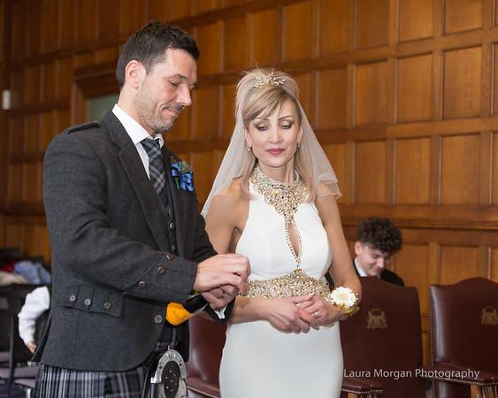 Wayne and Svetla Gray's Wedding, Grant Room, Marischal College and Copthorne Hotel, Aberdeen