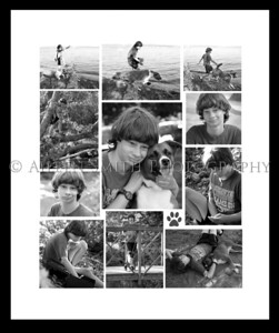 max color collage bw