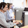 Customer assistant working in a call center
