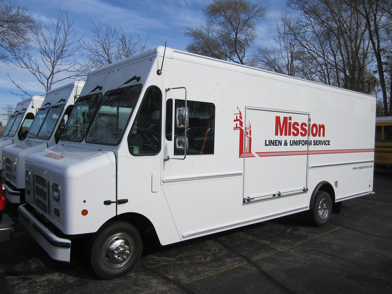 California-based Mission Linen operates six ROUSH CleanTech Ford E-450 step vans on clean-burning, economical propane autogas.
